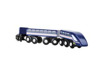 """Treno ad alta velocità """"Freccia azzurra"""" TRAINible Legler Small Foot"""