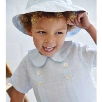 Cappello in Lino Azzurro Cielo Powell Craft