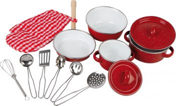 Batteria da cucina rossa Legler