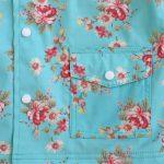 Impermeabile Azzurro Floreale Rose Powell Craft