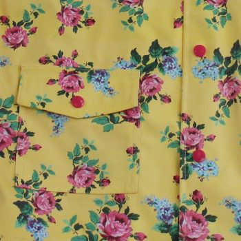 Impermeabile Giallo Limone Floreale Powell Craft