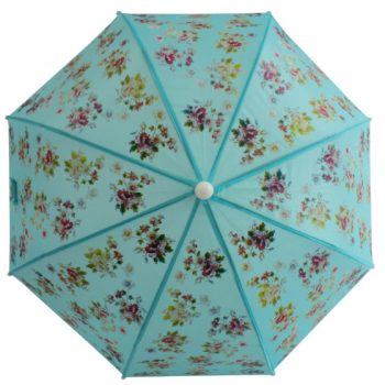 Ombrello Azzurro Floreale Powell Craft
