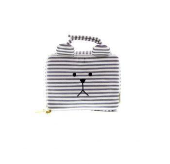Baby Bag Trousse Termica Impermeabile Sloth Grey stripes Craftholic Misure 24x17x8 Cm
