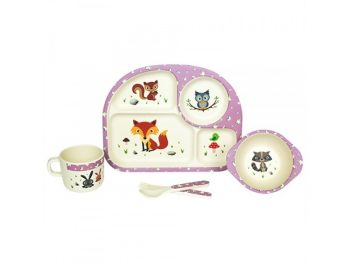 Set Pappa Bambini Kids Bamboo FOREST Woodway